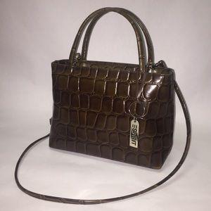 Vintage Esprit Croc Embossed Handbag